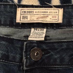 COLOURS - ALEXANDER JULIAN stretch jeans 34 x 30